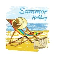 background summer with letteringrecliner on the vector image vector image