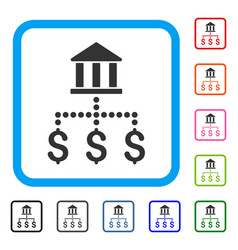 bank payments framed icon vector image vector image