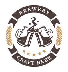 Beer cups emblem vector