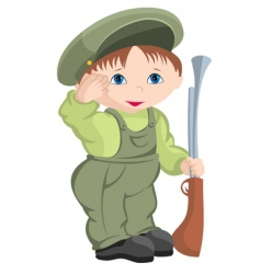 child military vector image vector image