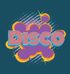 disco pop art lettering vector image