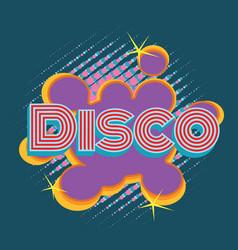 Disco pop art lettering vector