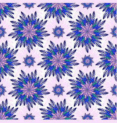 East seamless pattern with abstract flowers vector