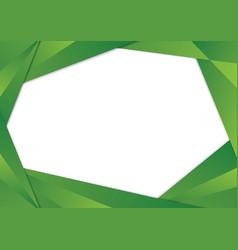 Green triangle frame border vector
