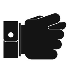 hand greed icon simple black style vector image vector image