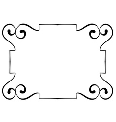 horizontal black frame on a white background vector image