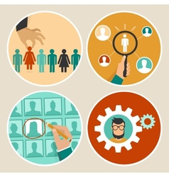 Human resources concepts and icons vector