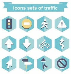 Icons sets traffic vector