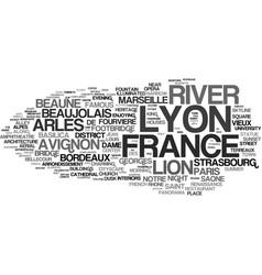 Lyon word cloud concept vector