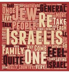 Meet the israelis text background wordcloud vector