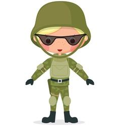 Military boy vector