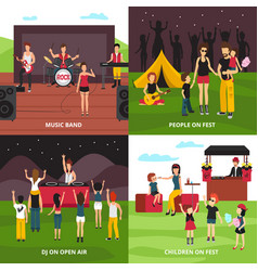 Outdoor fest design concept vector