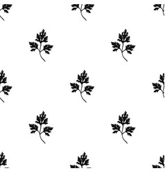 parsley icon in black style isolated on white vector image