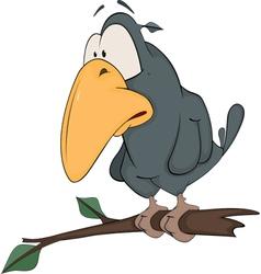 Raven from a fairy tale artoon vector
