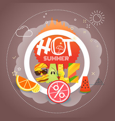 Summer sale season discount banner vector