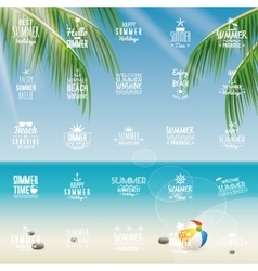Summer vacation labels vector
