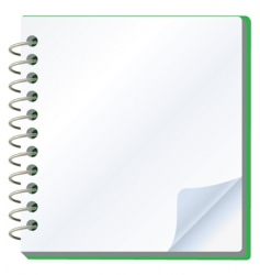 vector illustration of notepad vector image
