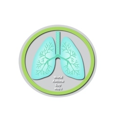 World asthma day - may 3 lungs baner vector