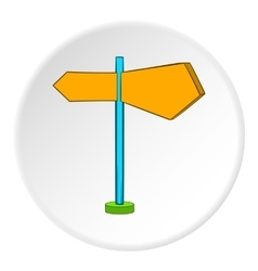 Road sign icon cartoon style vector