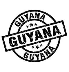 Guyana black round grunge stamp vector