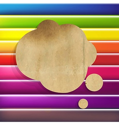 Colorful Background With Speech Bubble vector image