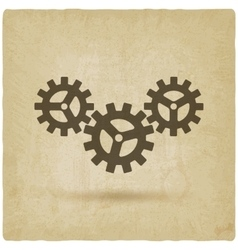 Gear connected symbol industrial concept vector