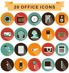 Office icons shadow vector
