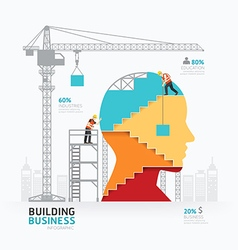 Infographic business head shape template design vector