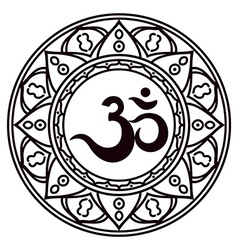 Om or Aum Indian sacred sound original mantra a vector image