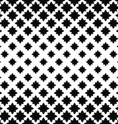 Monochrome seamless stylized floral pattern vector