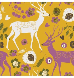 deer summer print vector image