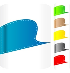 multicolored stickers set label vector image