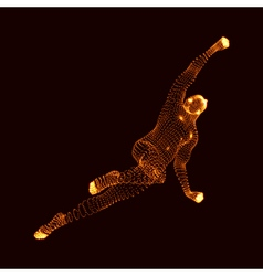 Jumping Man Graphics Composed of Particles vector image