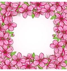 Peach blossom frame vector