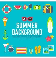 Summer icon flat background design vector