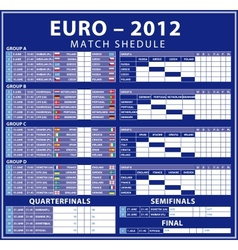 Euro 2012 matches vector
