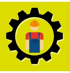 Signal of worker isolated icon design vector