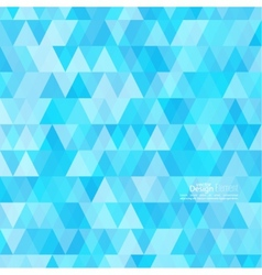 Abstract background of triangles of different vector image