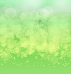 Abstract bokeh blur on green background vector