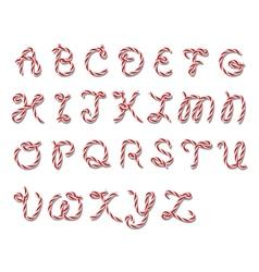 Alphabet in twine style vector