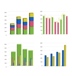 Bar chart graph vector
