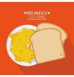 Bread and breakfast design vector