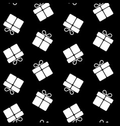 christmas gifts seamless pattern vector image