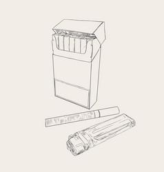 cigarettes pocket sketch vector image