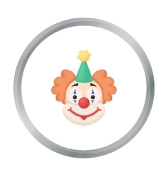 Clown icon in cartoon style isolated on white vector