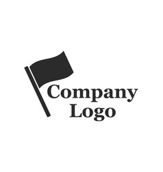 Company logo with flag vector