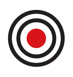 Darts target aim with red center vector