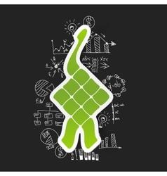 Drawing business formulas ketupat vector
