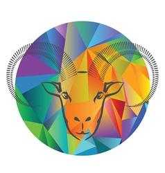 Goat head vector