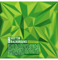 Green abstract polygonal background vector